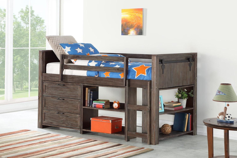 Donco Kids Twin Door Low Bed Modular Combo