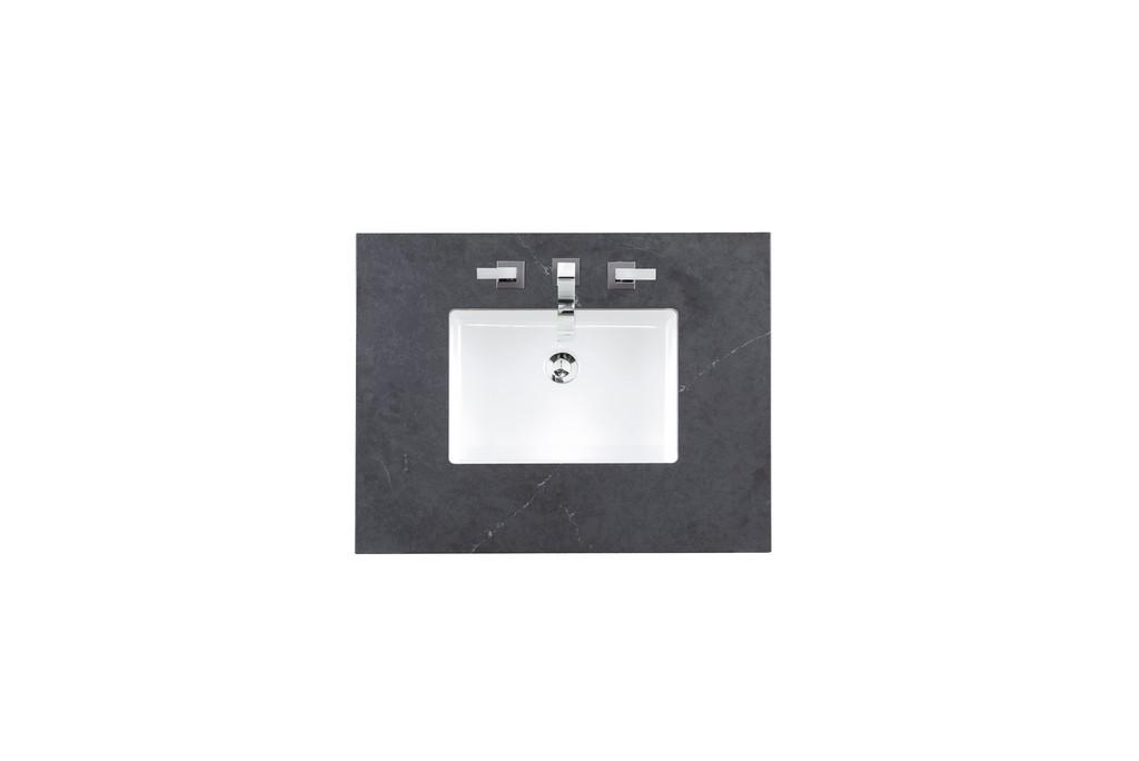 "30"" Single Top, 3 CM Charcoal Soapstone Quartz with Sink - James Martin 050-S30-CSP-SNK"