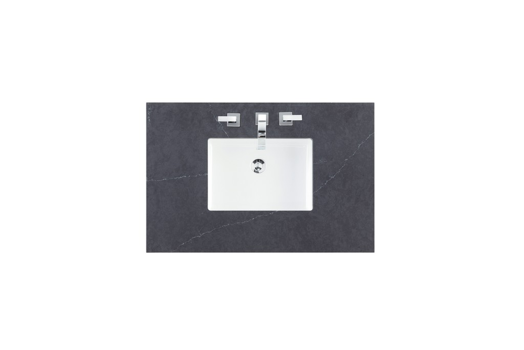 "36"" Single Top, 3 CM Charcoal Soapstone Quartz with Sink - James Martin 050-S36-CSP-SNK"