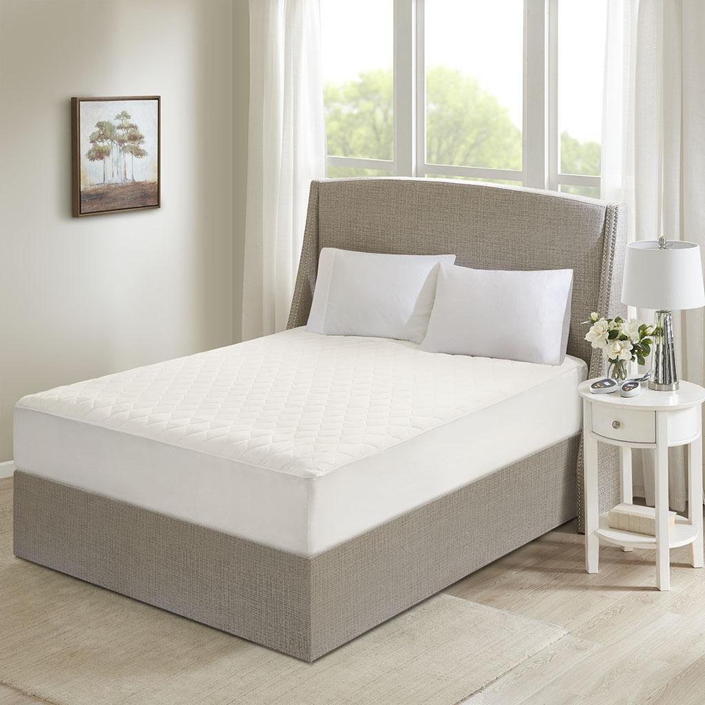 Beautyrest Cotton Queen Cotton Deep Pocket Heated Mattress Pad-20 Heat Settings - Olliix BR55-0900