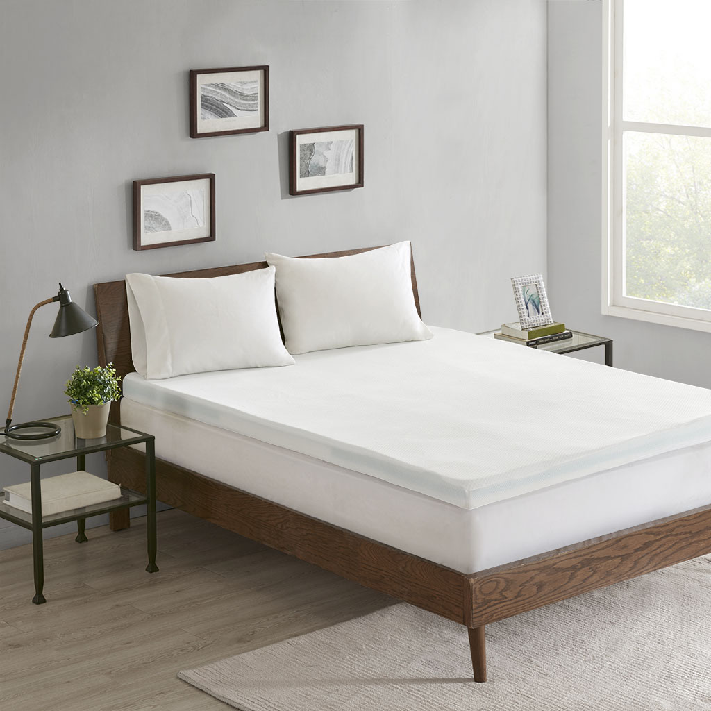 "Flexapedic by Sleep Philosophy 3-Zone Queen 3"" Memory Foam Topper w/ Removable Cover - Olliix BASI16-0559"