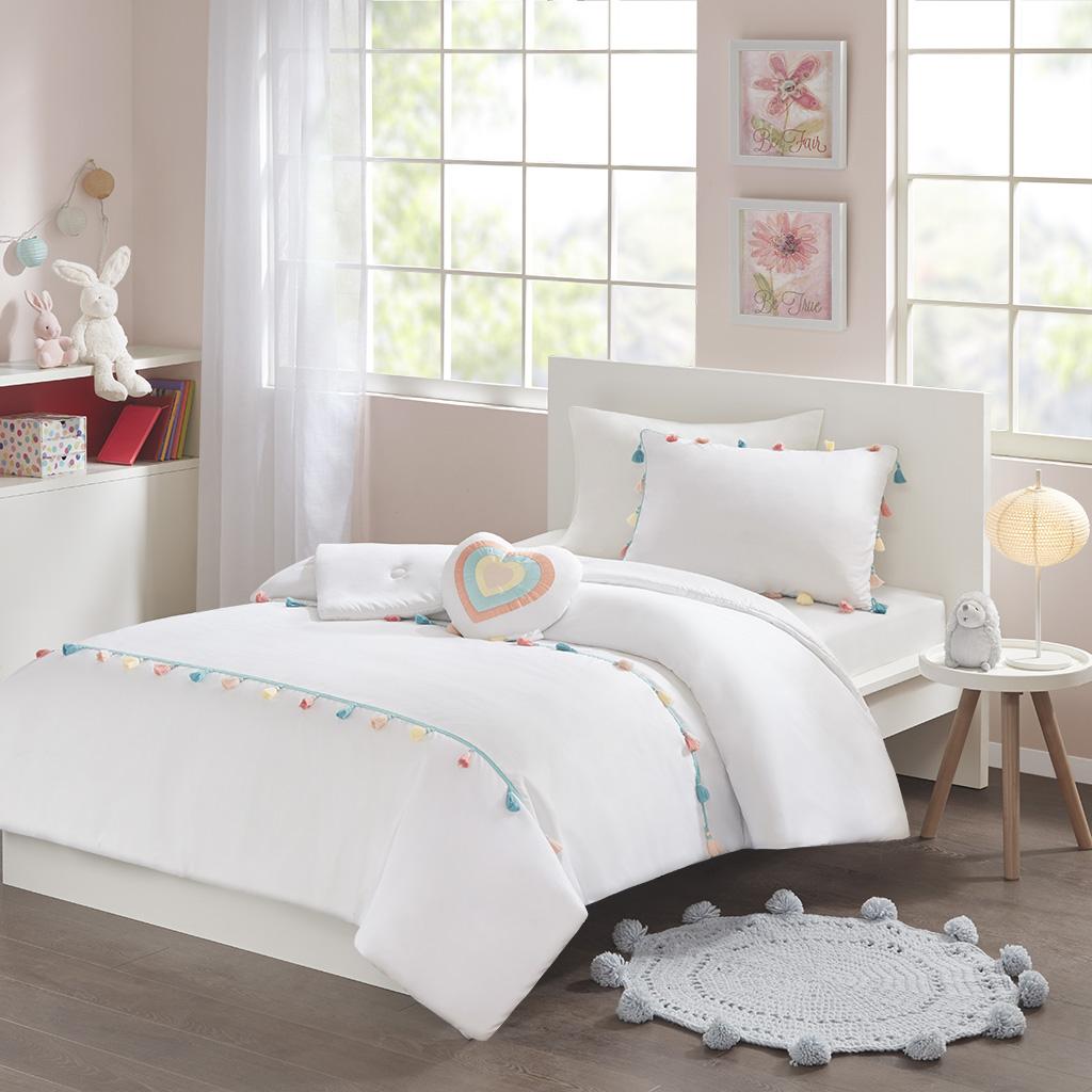 Mi Zone Kids Tessa Twin Tassel Comforter Set - Olliix MZK10-168