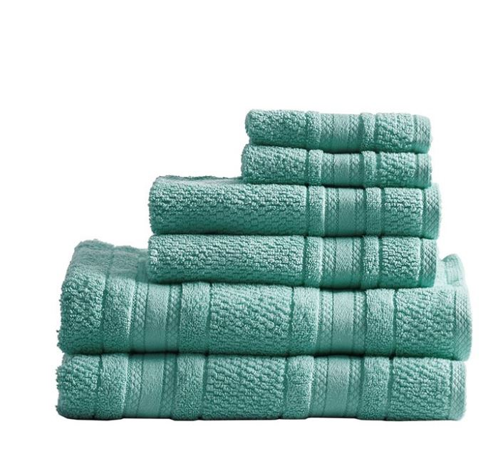 Madison Park Essentials Adrien Super Soft 6-Pc Cotton Towel Set - Olliix MPE73-788