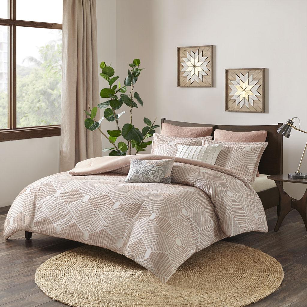 INK+IVY Ellipse Full/Queen Cotton Jacquard Comforter Set - Olliix II10-1052