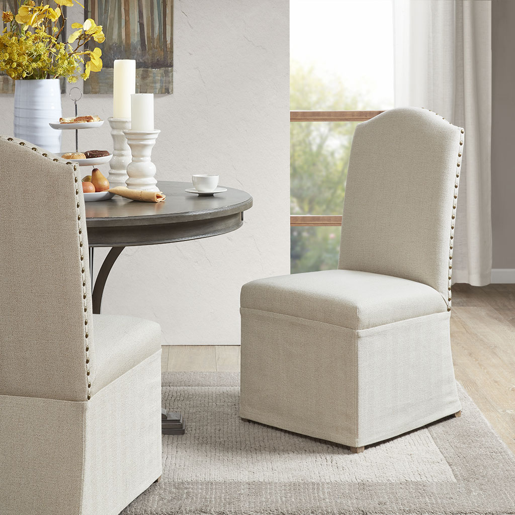 Madison Park Foster High Back Dining Chairs Skirts Olliix