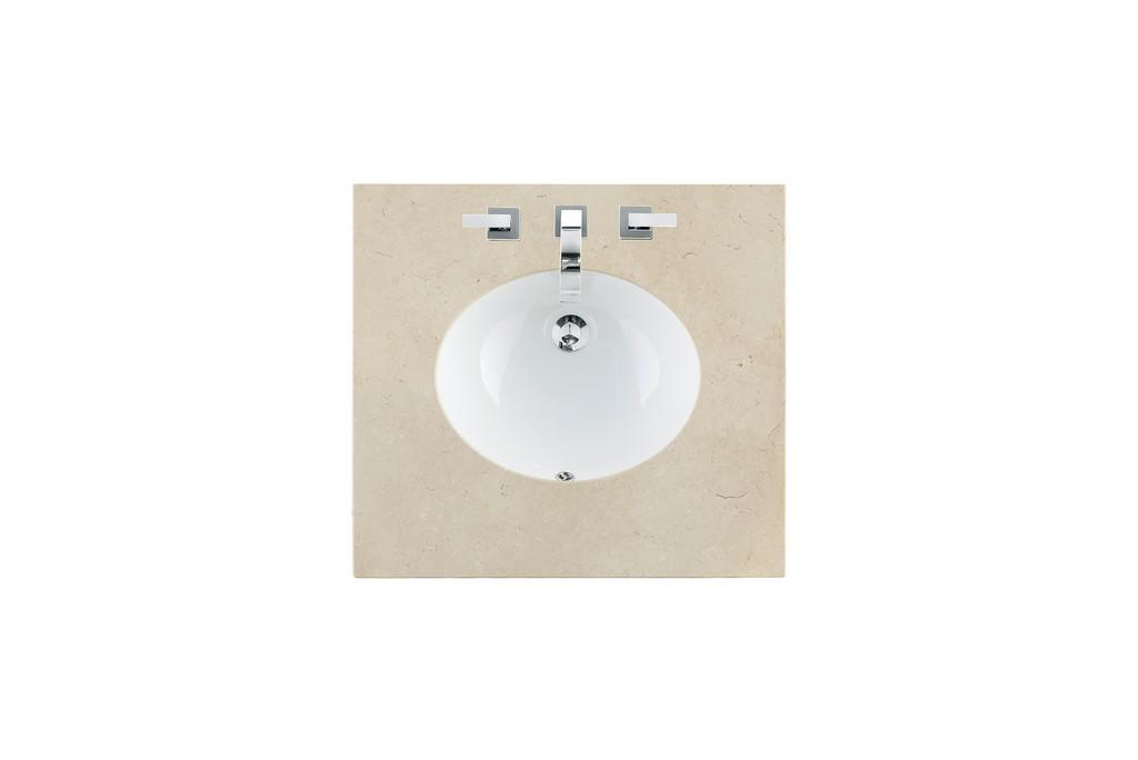 "26"" Single Sink Top, Galala Beige, 3 CM, Oval Sink - James Martin 090-OS26-GLB-SNK"
