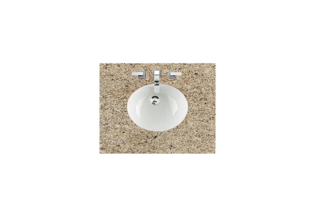 "30"" Single Sink Top, Santa Cecilia, 3 CM, Oval Sink - James Martin 090-OS30-DSC-SNK"