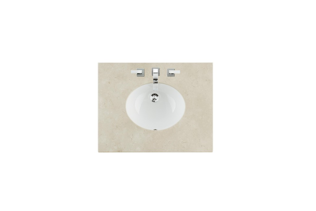 "30"" Single Sink Top, Galala Beige, 3 CM, Oval Sink - James Martin 090-OS30-GLB-SNK"