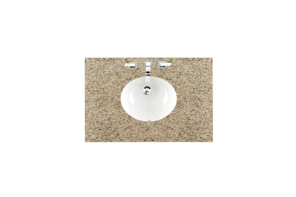 "36"" Single Sink Top, Santa Cecilia, 3 CM, Oval Sink - James Martin 090-OS36-DSC-SNK"