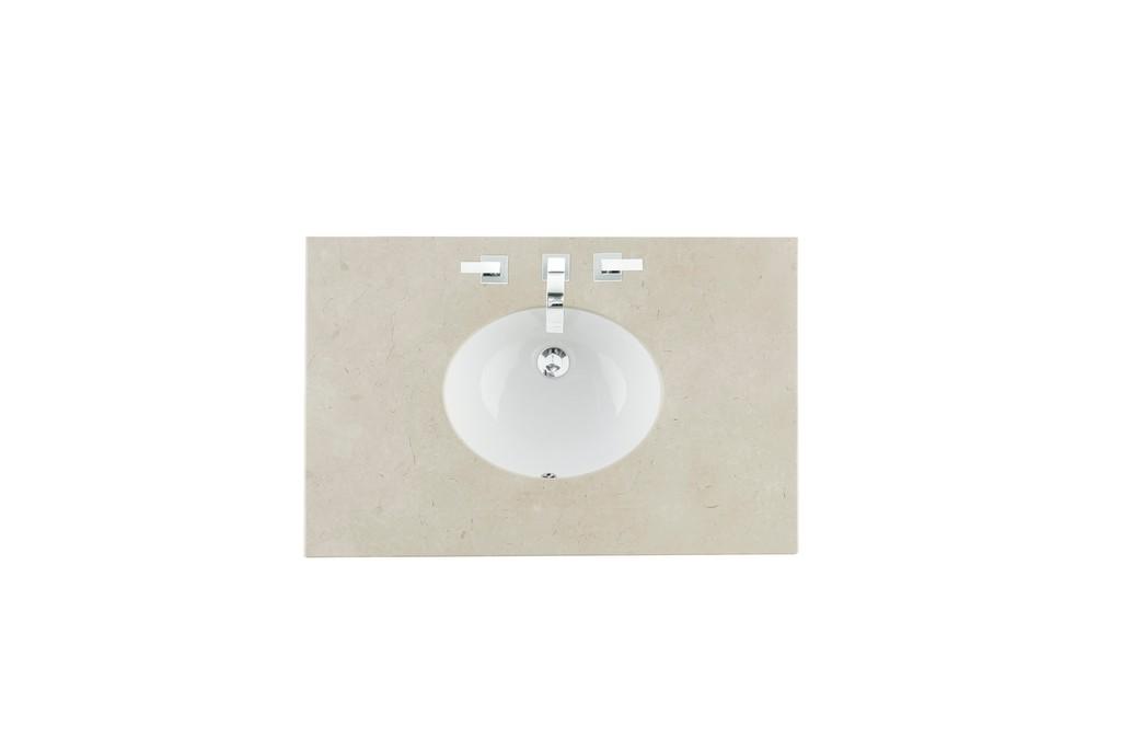 "36"" Single Sink Top, Galala Beige, 3 CM, Oval Sink - James Martin 090-OS36-GLB-SNK"