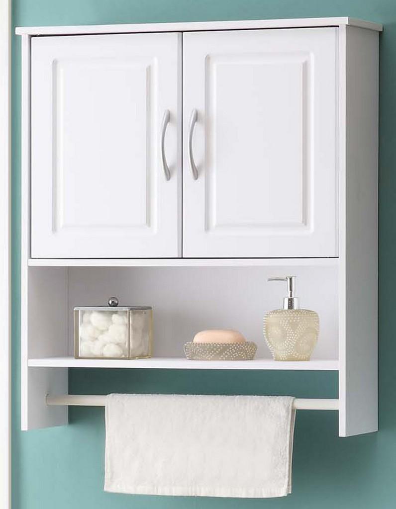 Bathroom 2 Door Wall Cabinet in White - 4D Concepts 76420