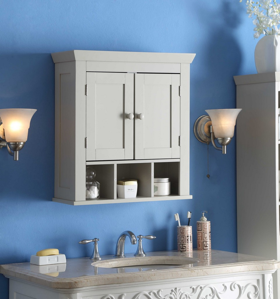 Rancho Wall Cabinet in White - 4D Concepts 90420