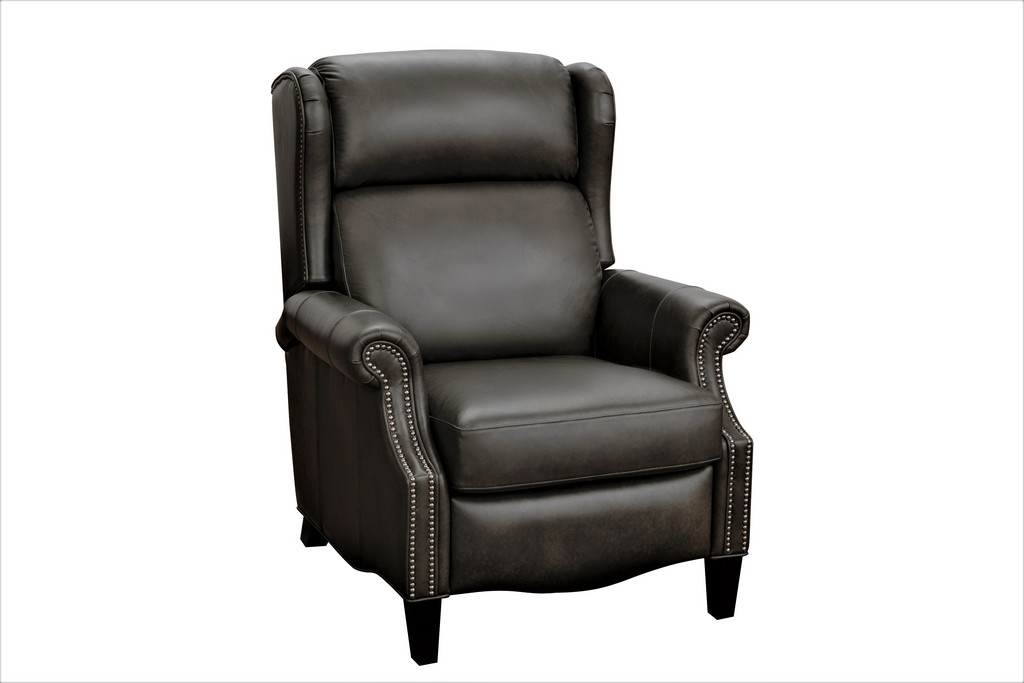Barcalounger 7-3682 Philadelphia Recliner in 5625-96 Ashford Graphite / All Leather
