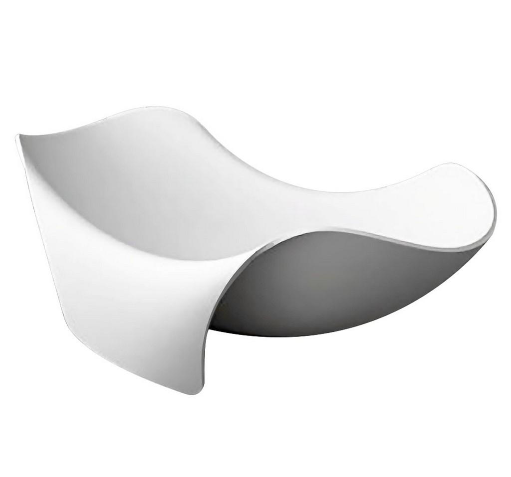Kerife Surface Center Drain Freestanding Bathtub Matte White