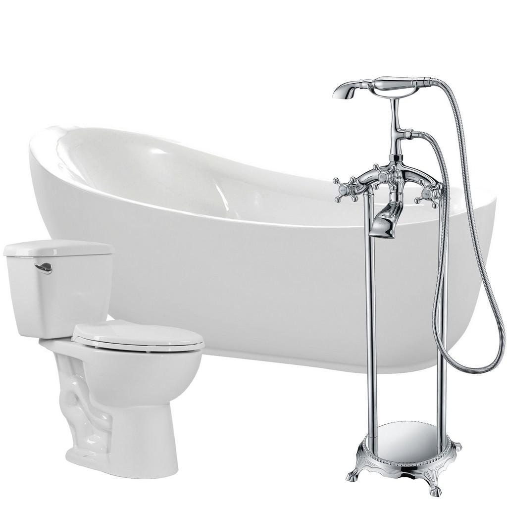 Acrylic Soaking Bathtub Tugela Faucet Cavalier Gpf Toilet