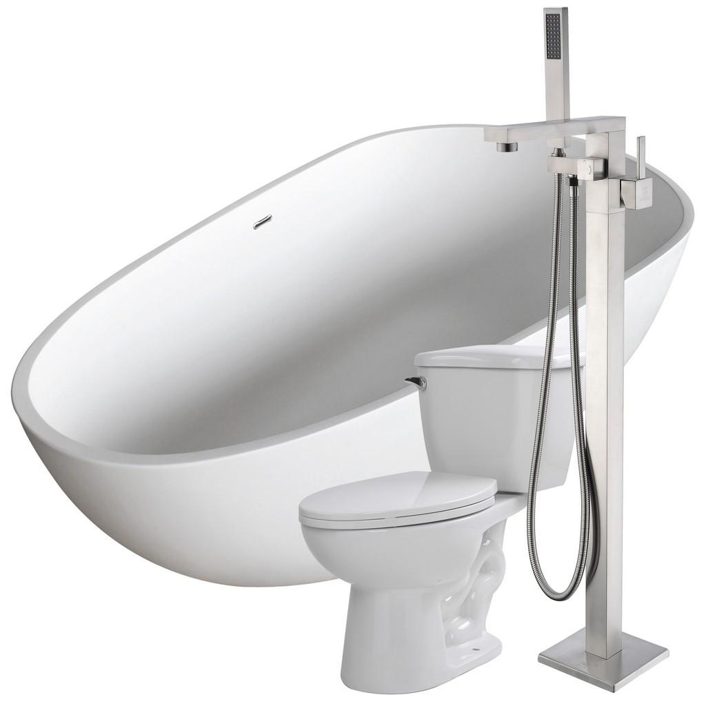 Fiume Surface Soaking Bathtub Khone Faucet Kame Gpf Toilet