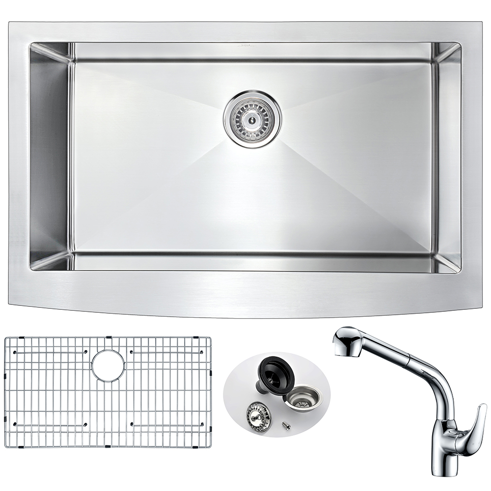 Stainless | Kitchen | Faucet | Polish | Chrome | Steel | Sink | Set