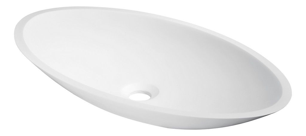 Achillies Solid Surface Vessel Sink in White - ANZII LS-AZ300