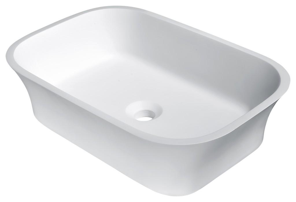Ajeet Solid Surface Vessel Sink in White - ANZII LS-AZ301