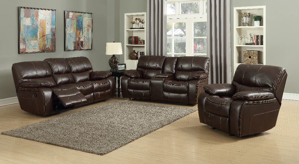Myco Banner Brown Leather Gel Loveseat