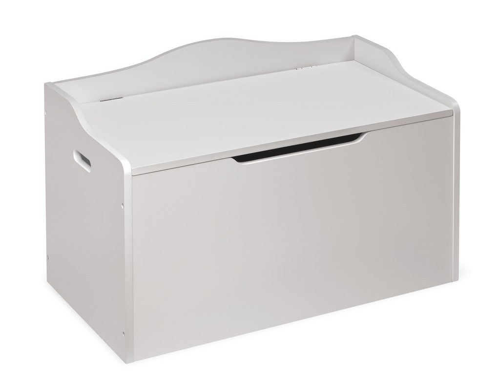 Bench Top Toy Box In White - Badger Basket 13512