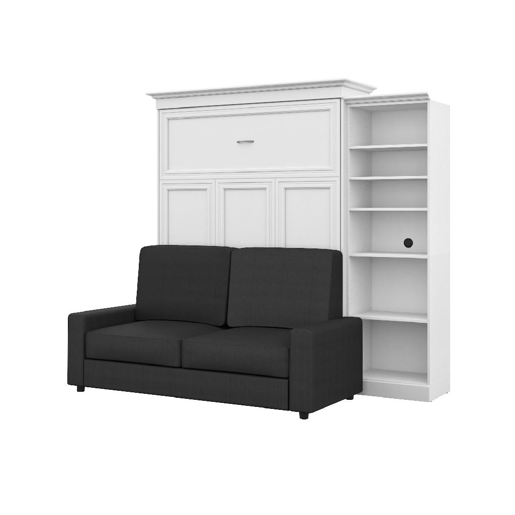 Bestar Wall Bed Queen Storage Sofa Set