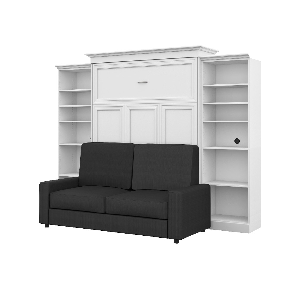 Queen Wall Bed Two Storage Units Sofa Set