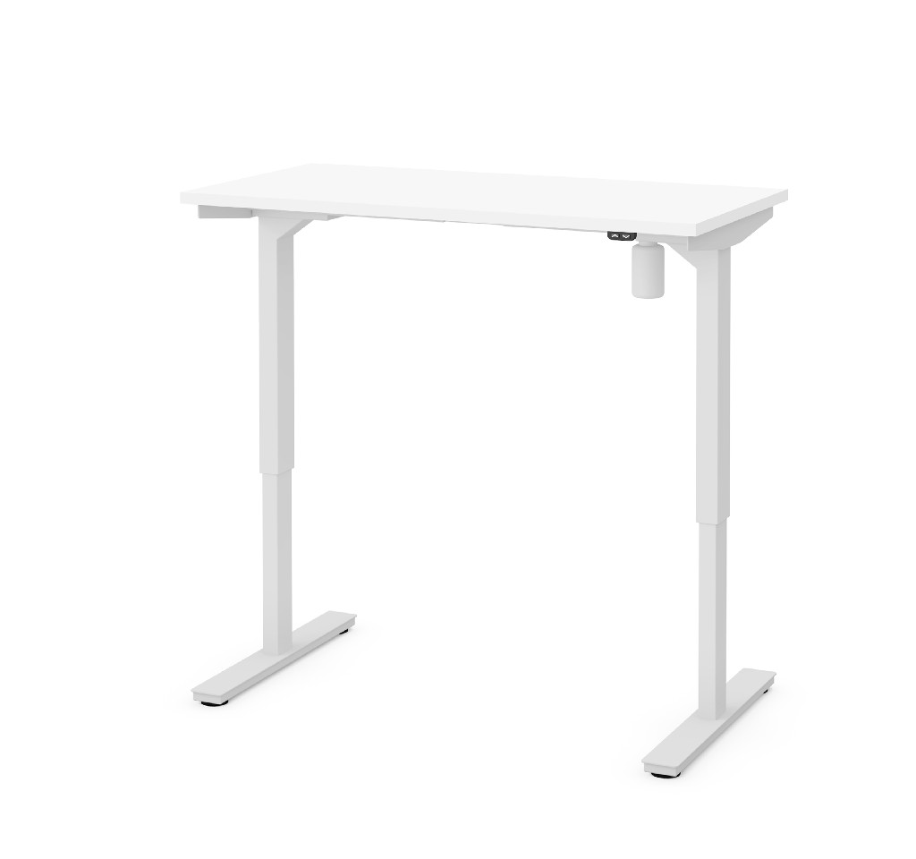 "24"" X 48"" Electric Height Adjustable Table in White - Bestar 65836-17"