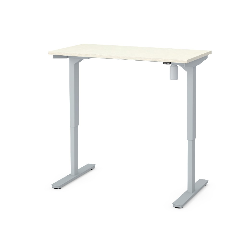 "24"" X 48"" Electric Height Adjustable Table in White Chocolate - Bestar 65837-31"