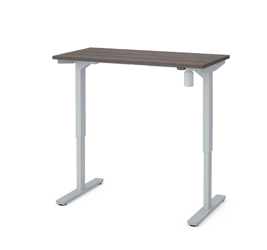 "24"" X 48"" Electric Height Adjustable Table in Bark Gray - Bestar 65837-47"