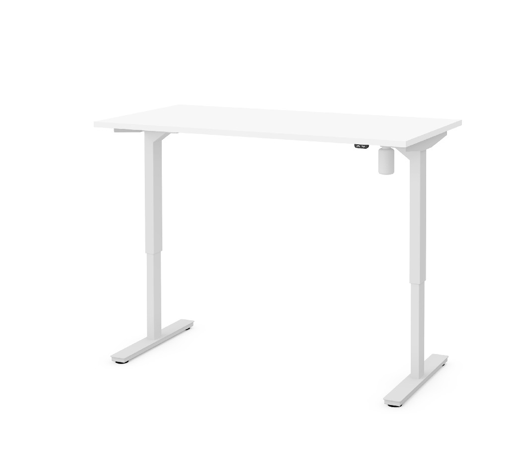 "30"" X 60"" Electric Height Adjustable Table in White - Bestar 65838-17"