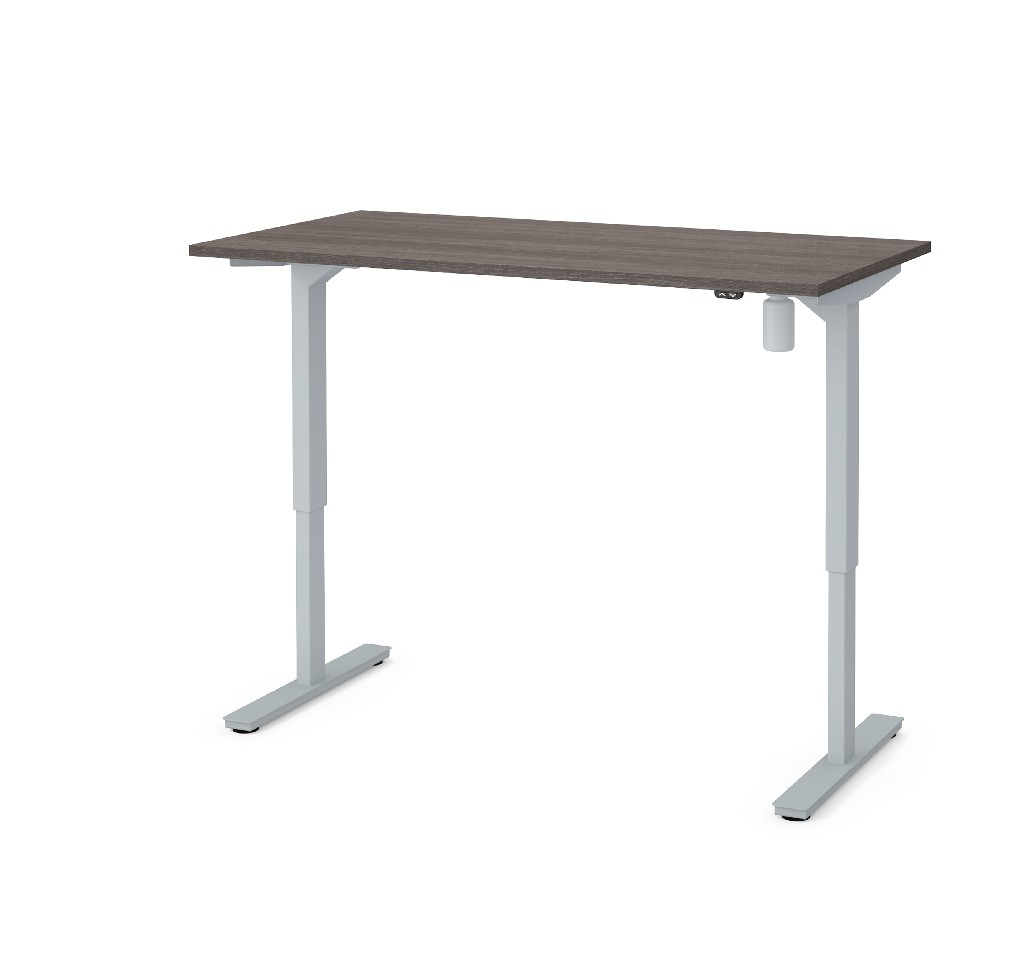 "30"" X 60"" Electric Height Adjustable Table in Bark Gray - Bestar 65839-47"