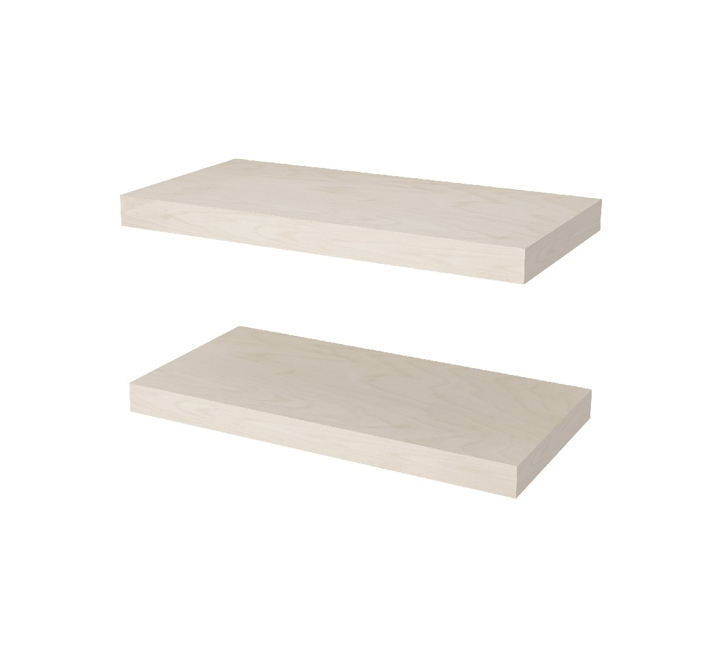 "2 Piece 12"" X 24"" High Quality Lightweight Floating Shelf Set - Bestar 65847-1120"