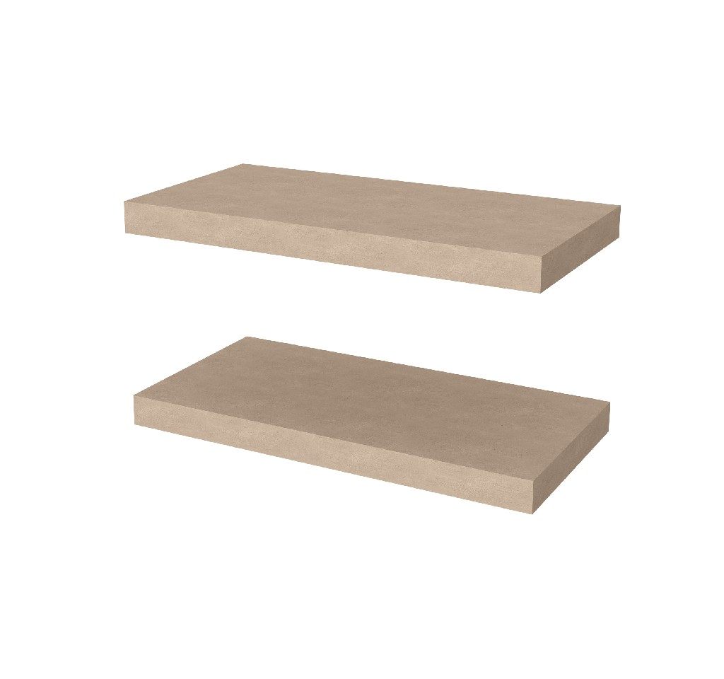 "2 Piece 12"" X 24"" High Quality Lightweight Floating Shelf Set - Bestar 65847-1199"