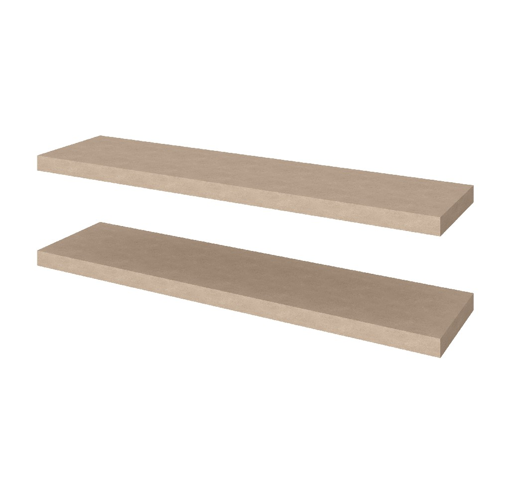 "2 Piece 12"" X 48"" High Quality Lightweight Floating Shelf Set - Bestar 65848-1199"