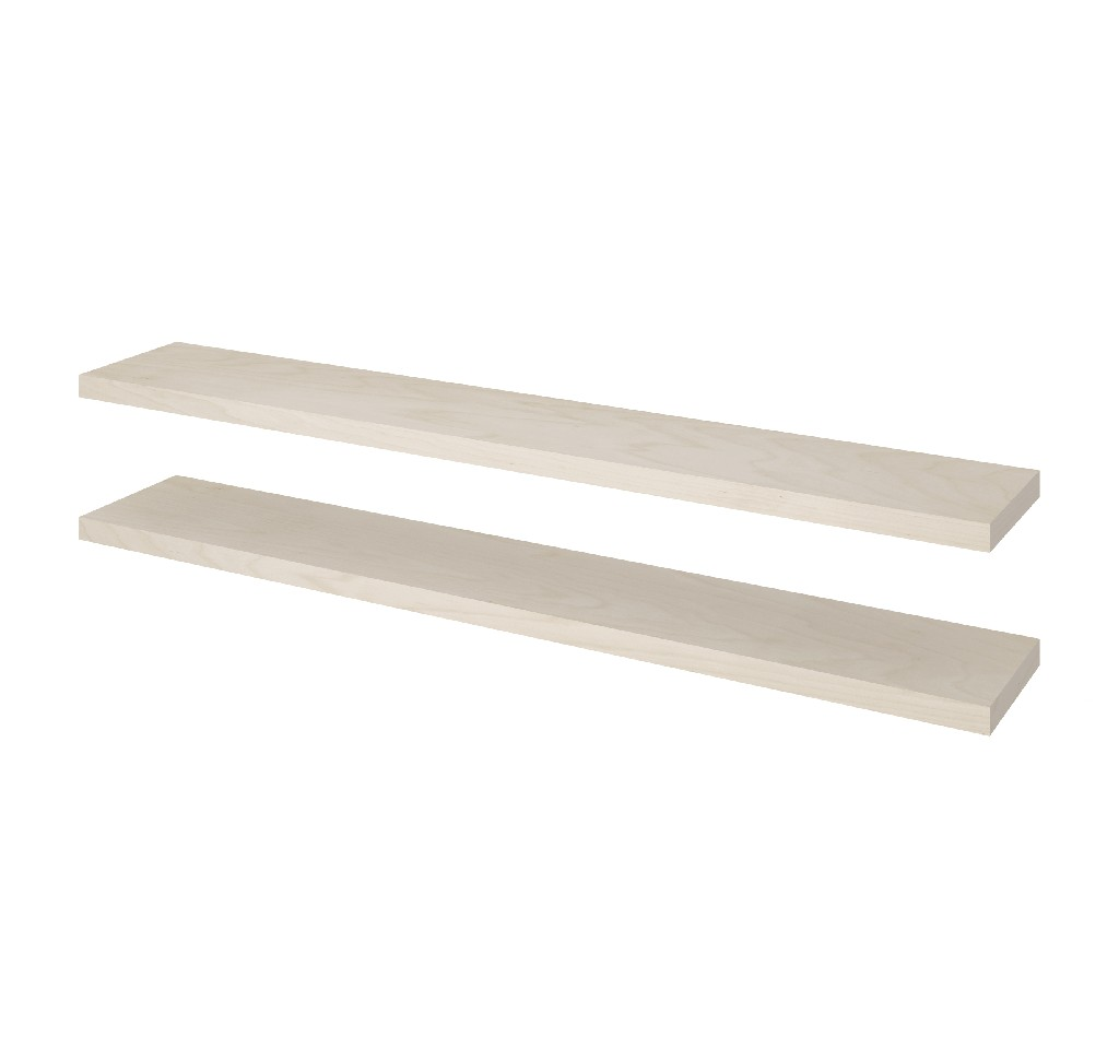 "2 Piece 12"" X 72"" High Quality Lightweight Floating Shelf Set - Bestar 65849-1120"