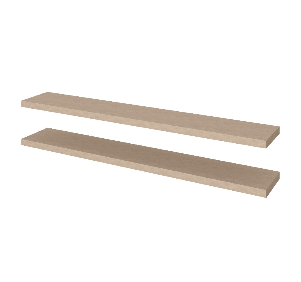 "2 Piece 12"" X 72"" High Quality Lightweight Floating Shelf Set - Bestar 65849-1199"