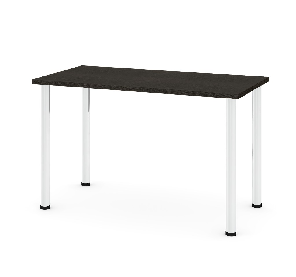 "24"" X 48"" Table w/ Round Metal Legs in Deep Grey - Bestar 65852-32"