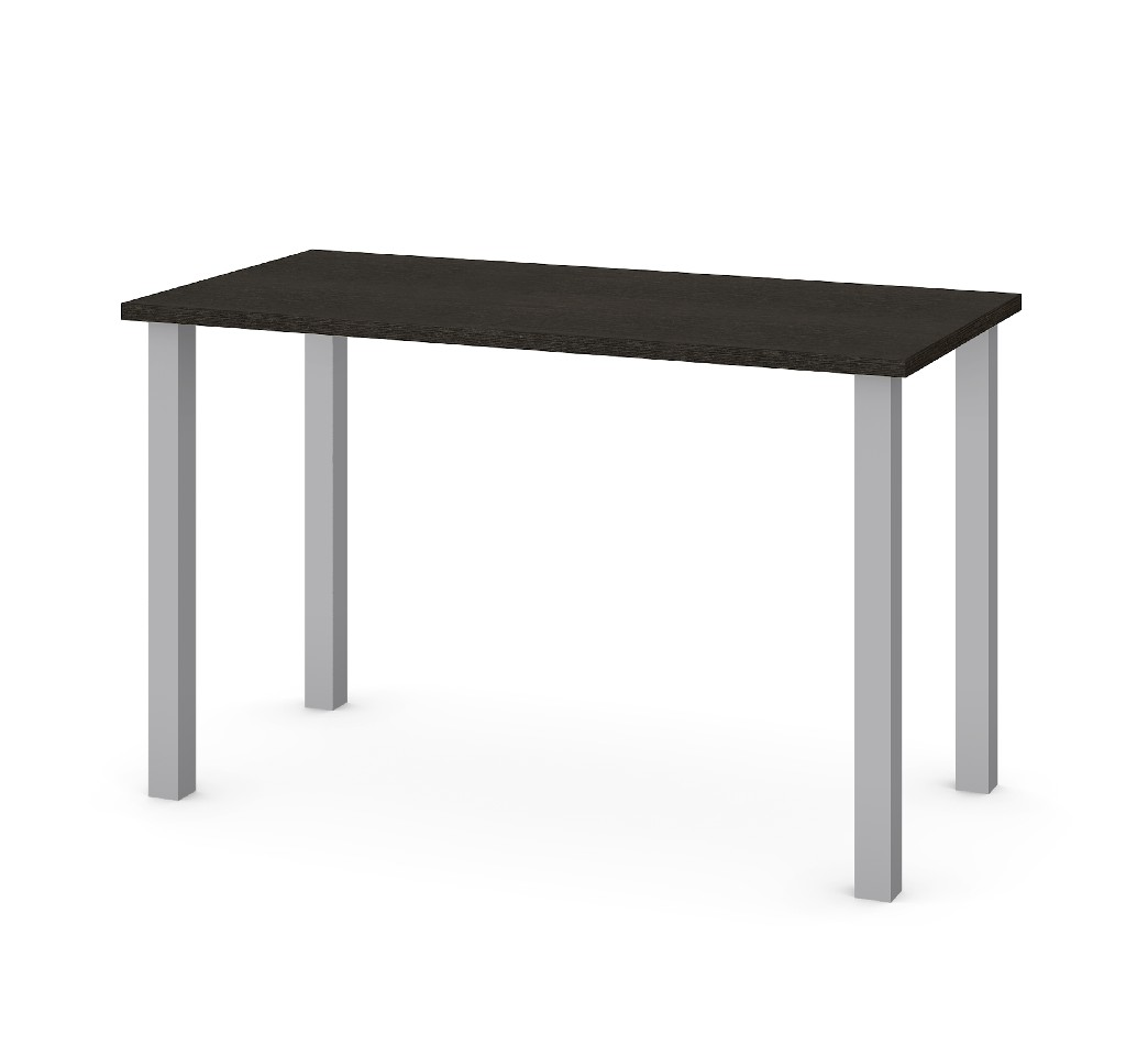 "24"" X 48"" Table w/ Square Metal Legs in Deep Grey - Bestar 65855-32"