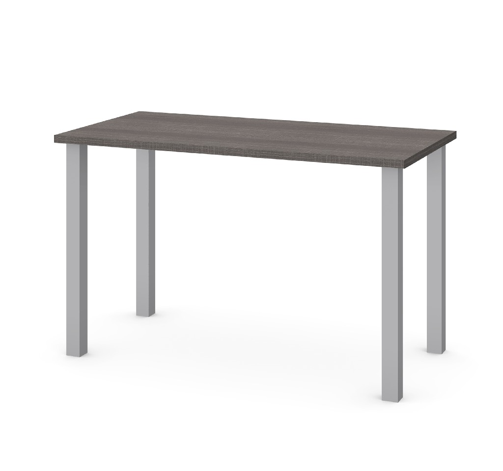 "24"" X 48"" Table w/ Square Metal Legs in Bark Gray - Bestar 65855-47"