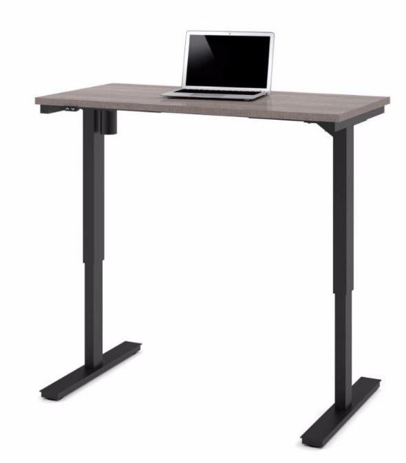 "Bestar 24"" x 48"" Electric Height Adjustable Table in Bark Gray - Bestar 65857-47"