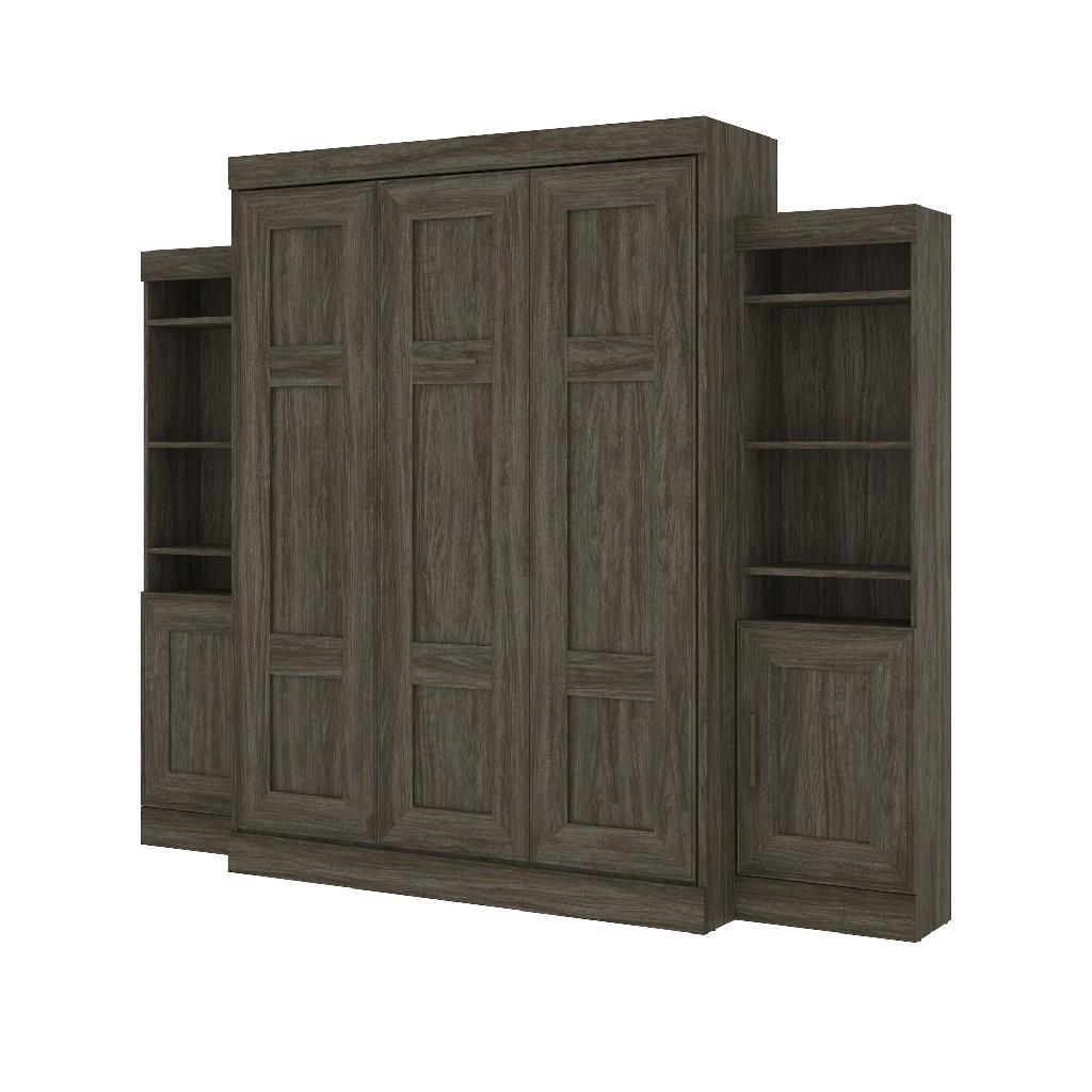 Bestar Furniture Wall Bed Queen Storage Unit