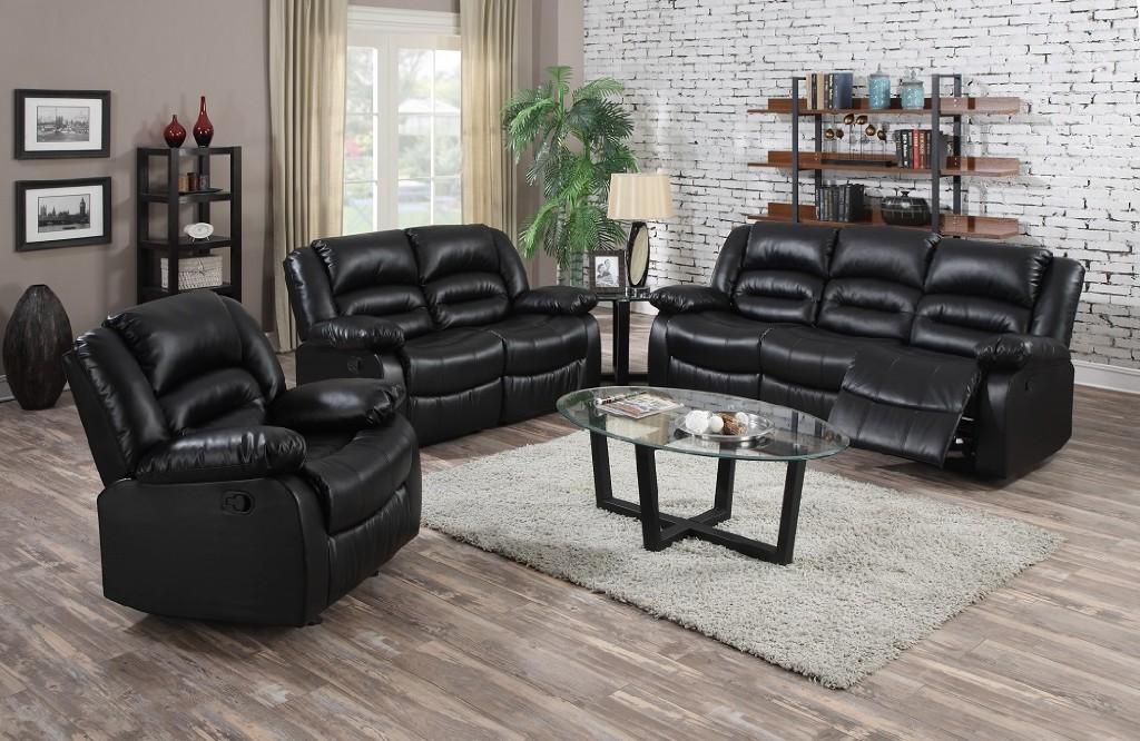 Black Leather Recliner Sofa Myco