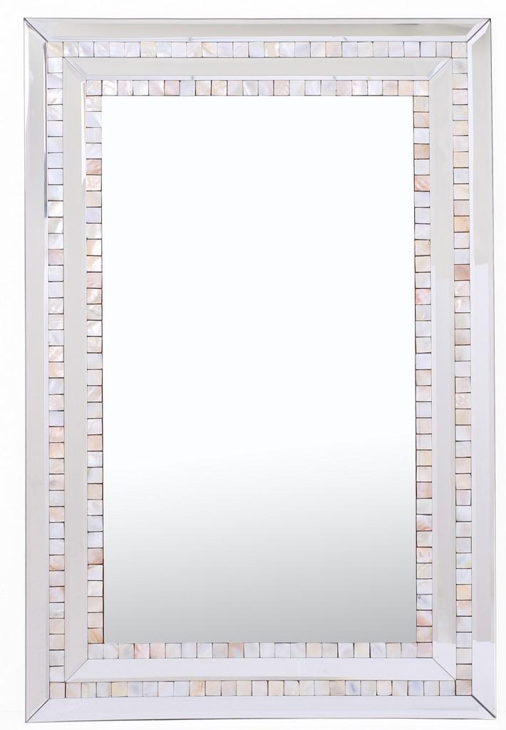 Double Mosaic Tiled Frame Mirror - Camden Isle Furniture 86310