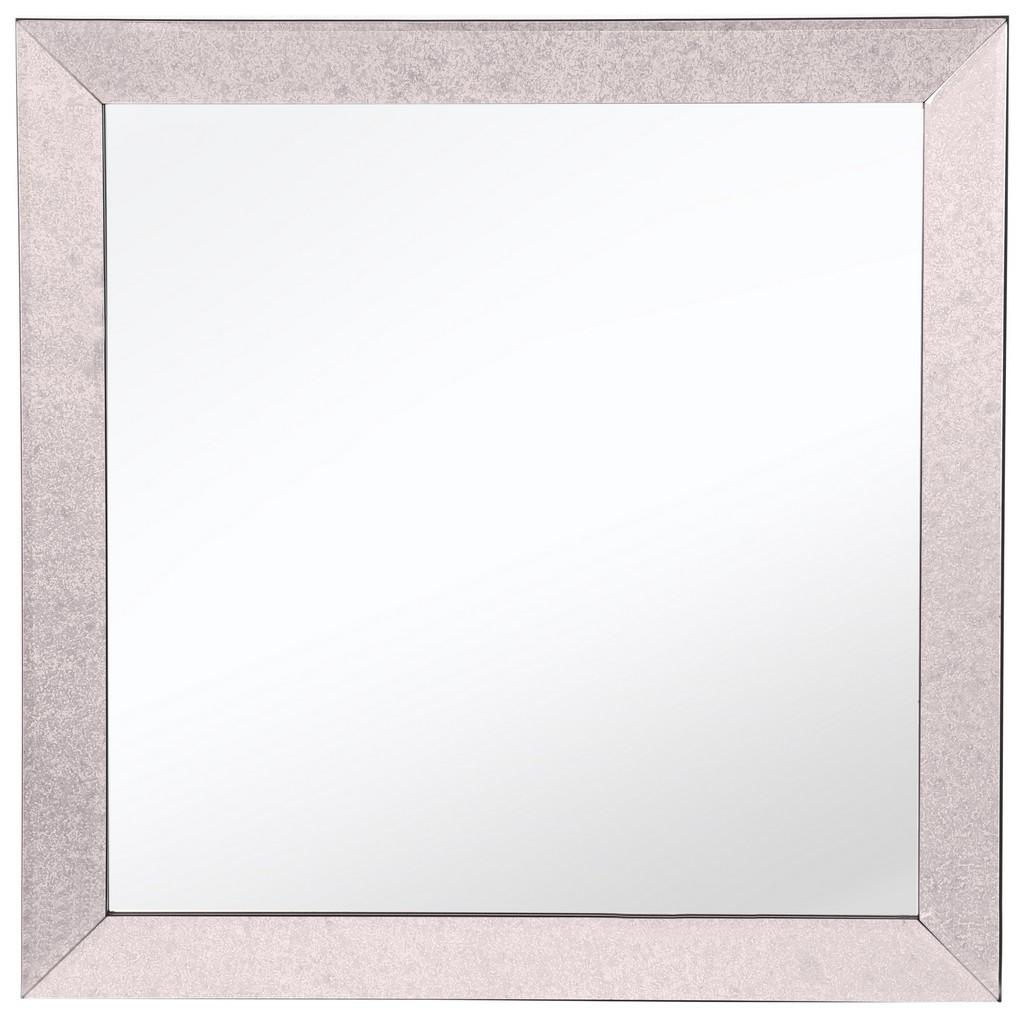 Bristol Square Classic Textured Frame Mirror - Camden Isle Furniture 86313