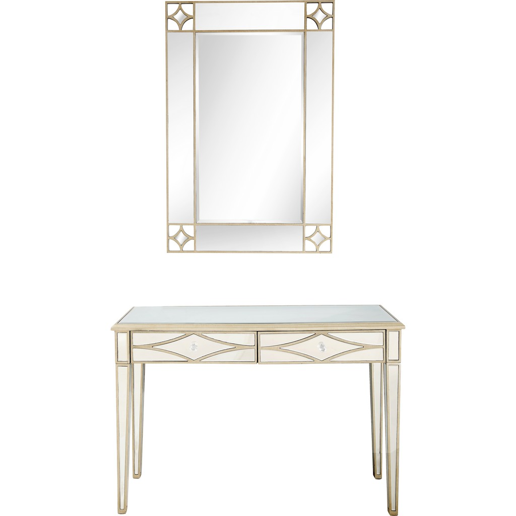 Huxley Wall Mirror and Console - Camden Isle Furniture 86440