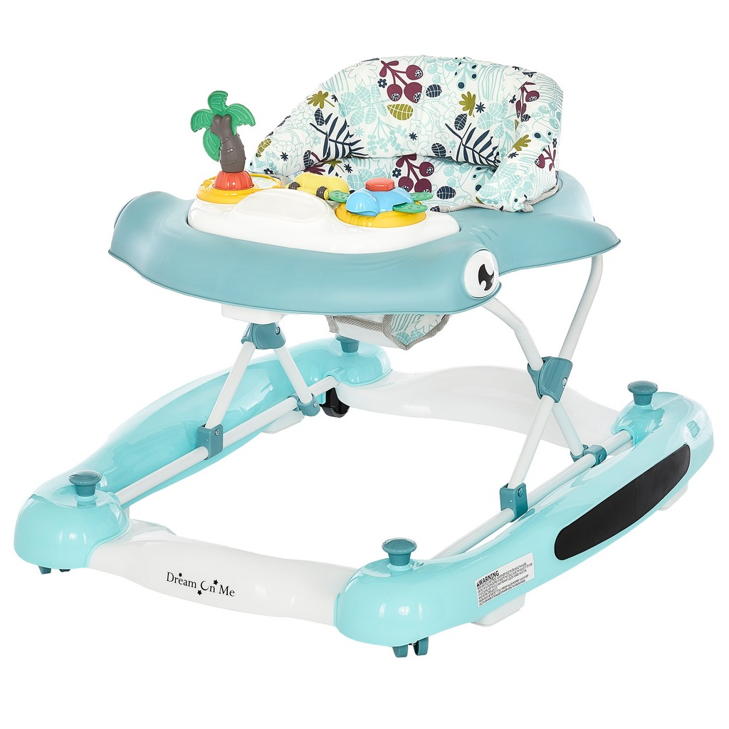 2-in-1 Aloha fun activity baby walker and Rocker - Dream On Me 424-BLUE