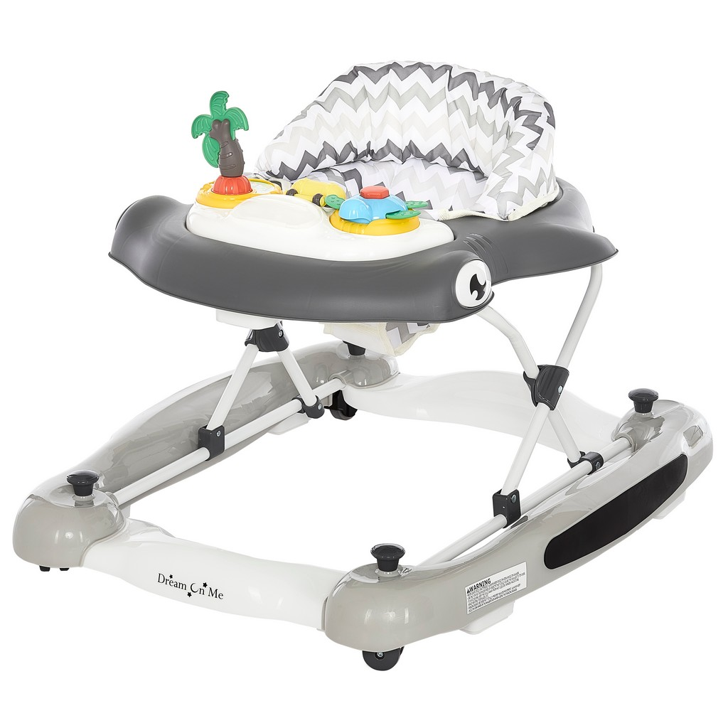 2-in-1 Aloha fun activity baby walker and Rocker - Dream On Me 424-GREY