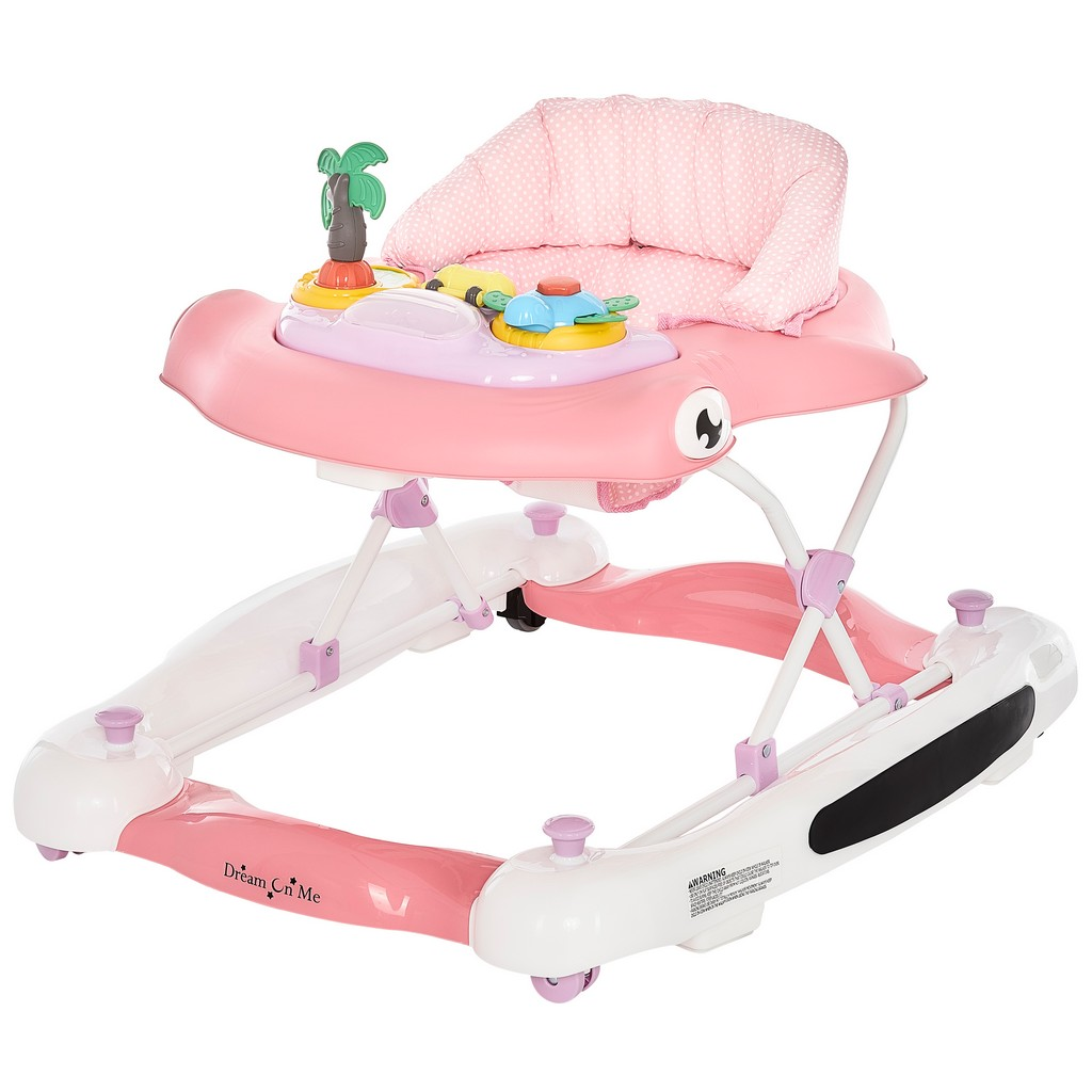 2-in-1 Aloha fun activity baby walker and Rocker - Dream On Me 424-PNK
