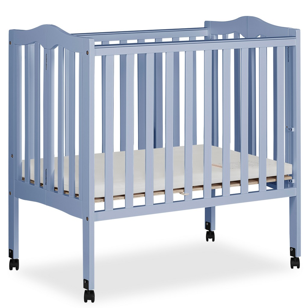 2 in 1 Lightweight Portable Crib - Dream On Me 681-DBLUE